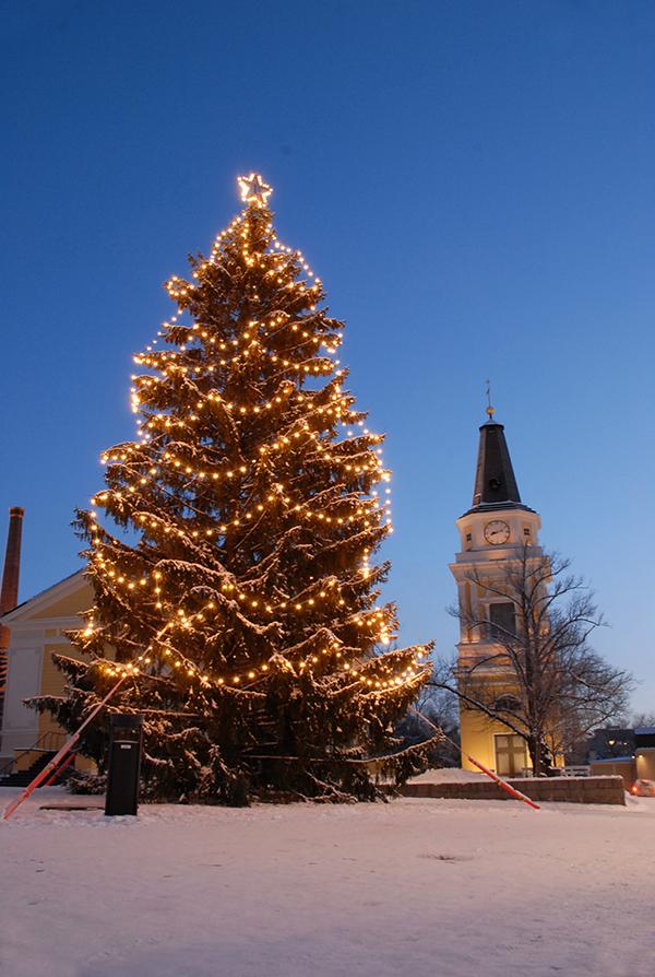 タンペレのクリスマスツリー