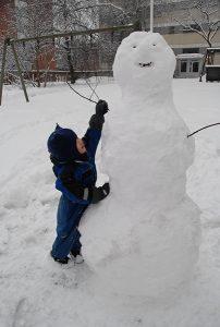 雪だるま フィンランドの森から