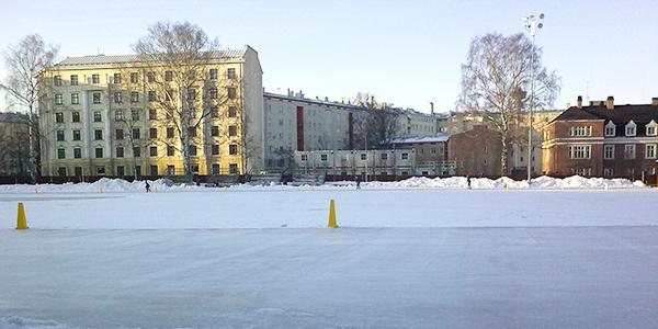スケートリンク フィンランドの森から