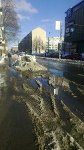 雪解けの道路 フィンランドの森から